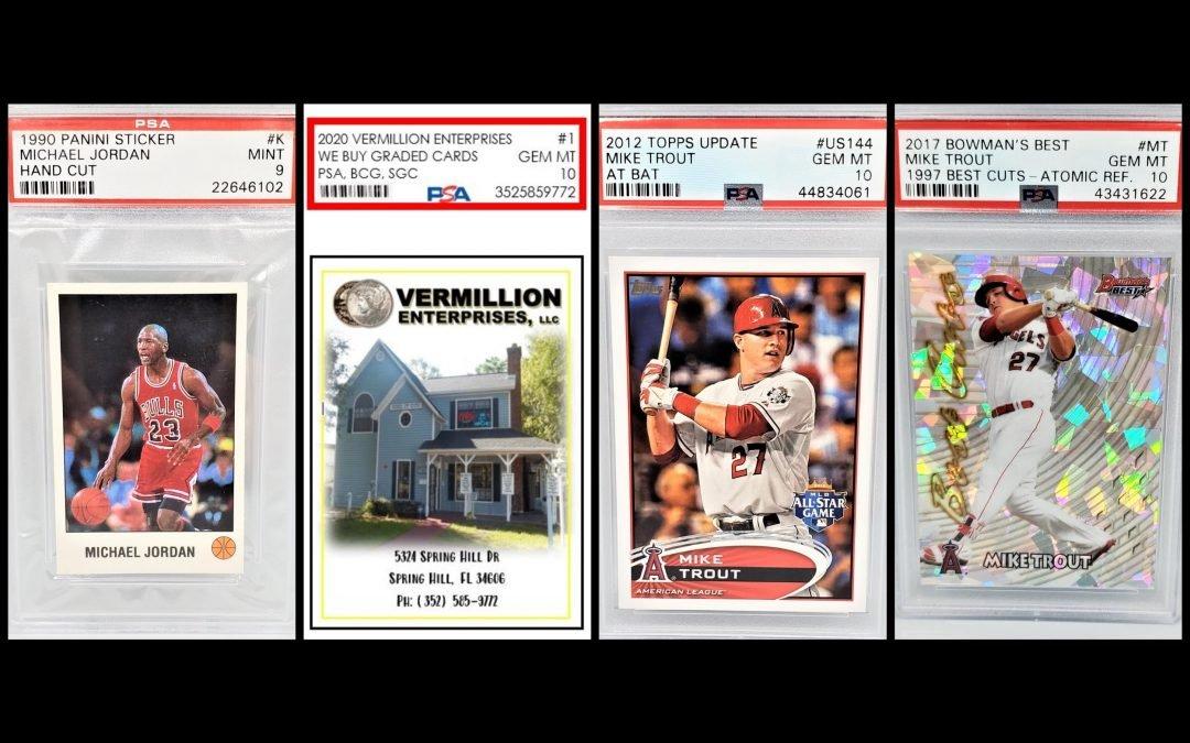 sports cards, graded sports cards, memorabilia, we buy graded sports cards, authenticated, autographed, psa, bgs, sgc, grading guide - Holiday FL