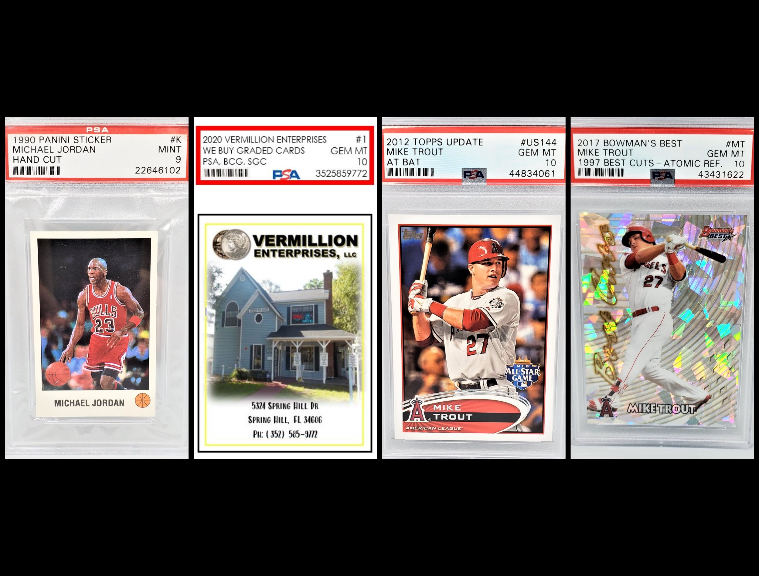 Serving Brooksville - sports cards, graded sports cards, memorabilia, we buy graded sports cards, authenticated, autographed, psa, bgs, sgc, grading guide